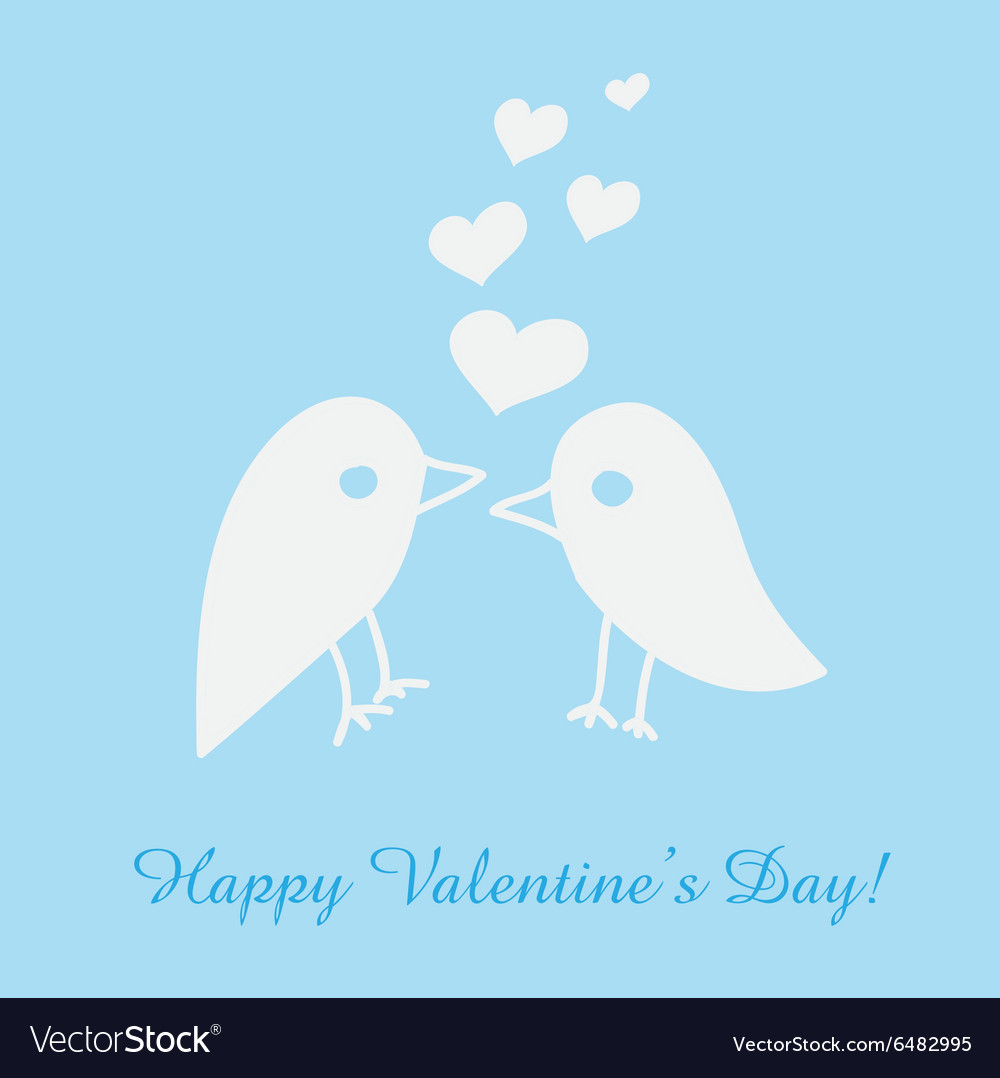 St valentines day greeting card with birds vector
