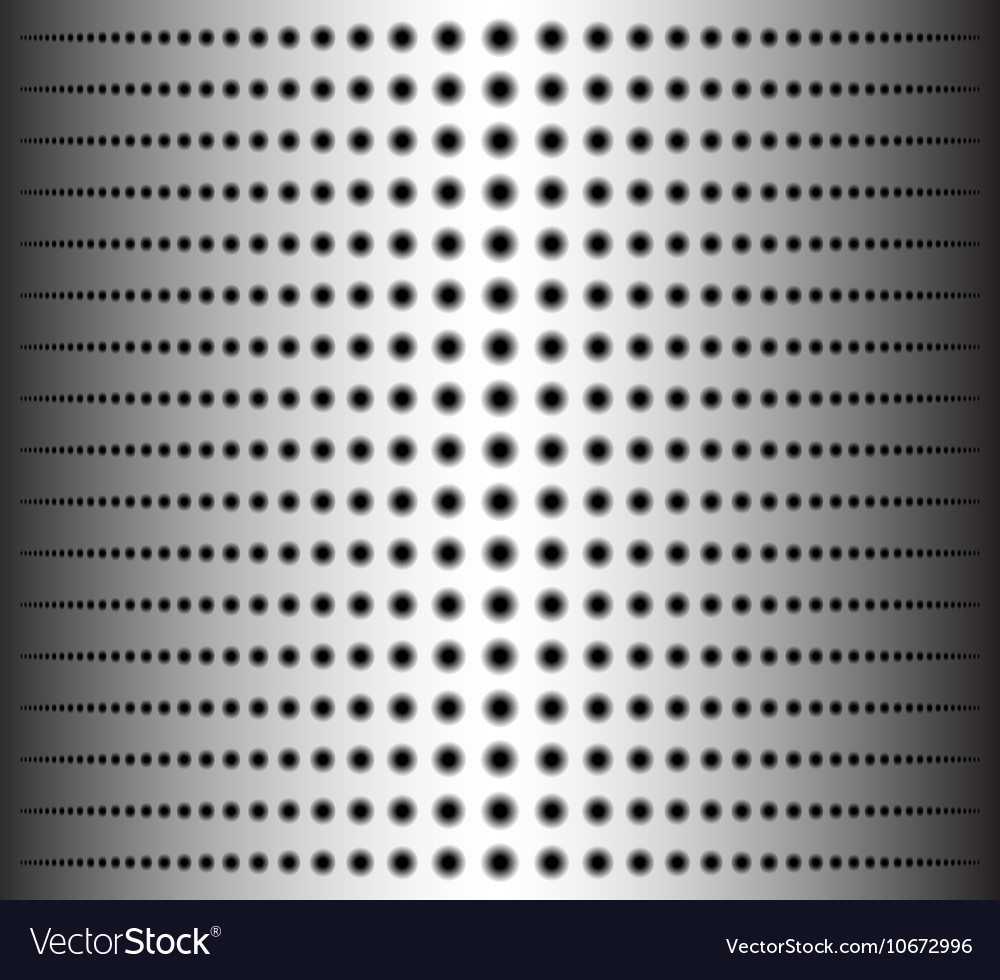 Technology background with circle perforated metal vector