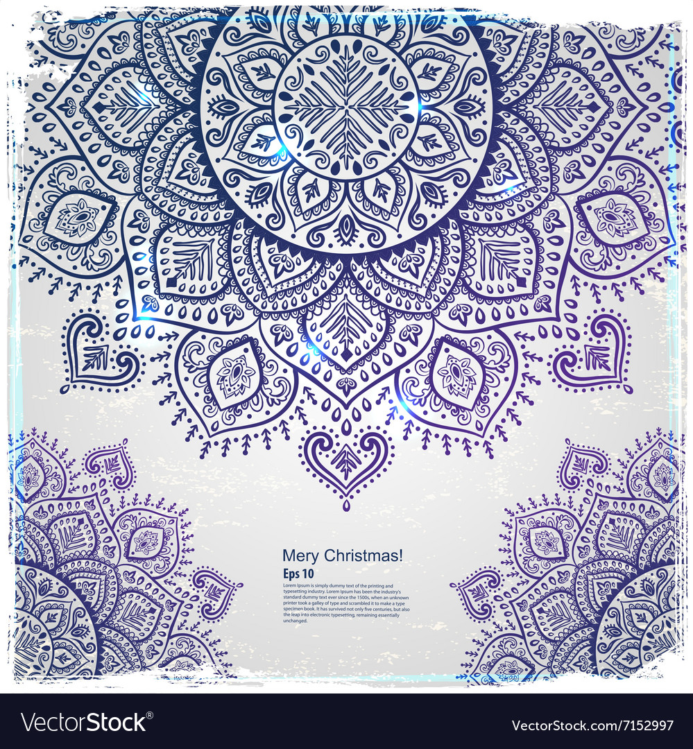 Christmas snowflake mandala ornament vector