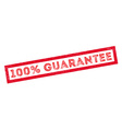 100 percent guarantee rubber stamp vector image