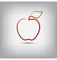 Apple logo vector image