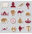 india country theme symbols stickers set eps10 vector image