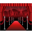 Red carpet movie premiere elegant event hollywood vector image vector image