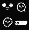 jail icon black and white vector image