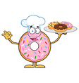Donut Chef Cartoon vector image