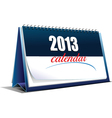 2013 Calender Stand vector image vector image