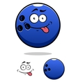 Colorful blue cartoon bowling ball vector image