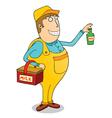 Milk man cartoon vector image