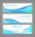 Set of wavy soft banners vector image