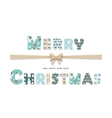 Merry Christmas cute textile lettering vector image