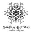 Snowflake icon on white vector image