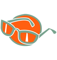 Fashionable glasses vector image vector image