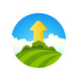 symbol of ecology growth vector image