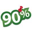 Ninety percent sticker vector image