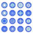 snowflake icons set vector image vector image