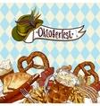 Oktoberfest celebration design with beer vector image