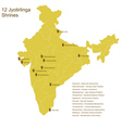 12 jyotirlingas vector image vector image