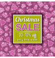 christmas background and sale offer label vector image