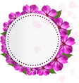 Flower holiday background vector image