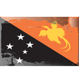 papa new guinea national flag vector image vector image