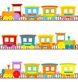 Cartoon trains vector image