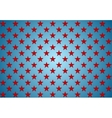 Abstract red stars on blue background vector image