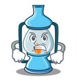 angry lantern character cartoon style vector image