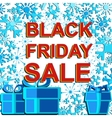 Big winter sale poster with BLACK FRIDAY SALE text vector image