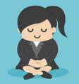Calm business woman meditating vector image