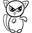 cartoon kawaii kitten coloring page vector image