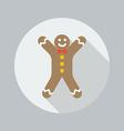 Christmas Flat Icon Gingerbread man vector image