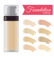 foundation cream vector image