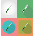 garden tools flat icons 15 vector image