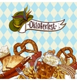 Oktoberfest celebration design with beer vector image