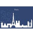 Paris city skyline on blue background vector image