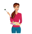 Woman painter portrait vector image