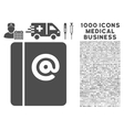 Emails Icon with 1000 Medical Business Pictograms vector image
