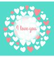 Wedding Valentins day card vector image