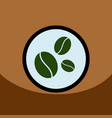Flat icon design collection coffee beans vector image