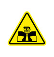 attention angry boss chief to yellow triangle vector image