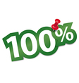 Hundred percent sticker vector image