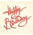 Calligraphy happy birthday vector image