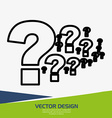 flow questions design vector image