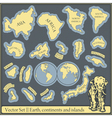 Set of different continents and islands vector image