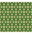 abstract seamless green trefoil pattern vector image