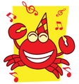 Crab Full Music vector image