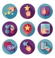 Customer service flat icons set vector image