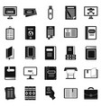 document icons set simple style vector image
