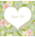 Heart with floral background vector image