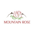 mountain rose design template vector image